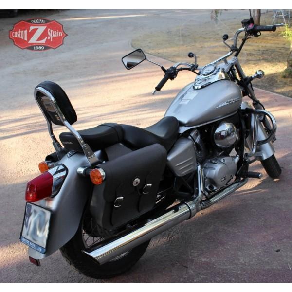 saddlebags honda shadow vt 125 specific apache basic black. Black Bedroom Furniture Sets. Home Design Ideas