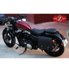 Alforja para Sportster Harley Davidson mod, SCIPION - Hueco Amortiguador - Específica - IZQUIERDA
