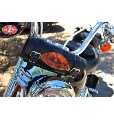 Rulo Custom para Harley Davidson' Ojo llamas' 29 cm x 11 Ø