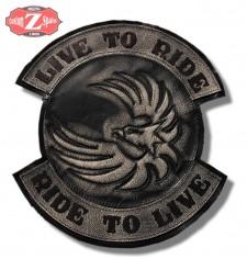 Parche Vintage Personalizado - LIVE TO RIDE - Águila Alas