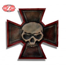 Personalised Vintage Patch - MALTESE CROSS - Skull