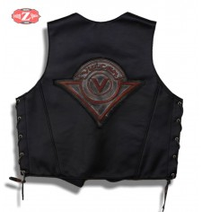 Personalized Custom Leather Vest mod, LOGO VULCAN