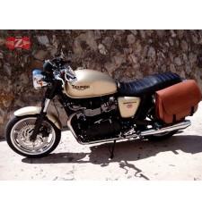 Sacoche latéral pour Triumph Bonneville T100/T120  mod, MALETON Basique - Brun clair -