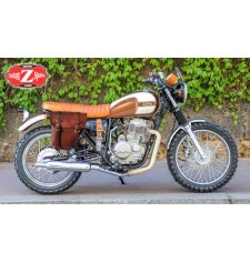 Sacoche pour Mash Von Dutch 400cc mod, CENTURION Adaptable - Brun Clair - DROITE