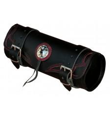 Tool bag Custom Tex ajouré - 29 cm x 11 Ø - Bordeaux Vintage