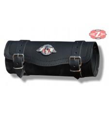 Tool bag Custom Basique Crâne Ailes - 29 cm x 11 Ø -
