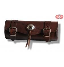 Tool bag Custom Basique 1 concho - Brun - 29 cm x 11 Ø -