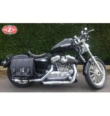 Alforja para Sportster 883/1200 Harley Davidson mod, TRAJANO Básica Específica - Hueco Amortiguador - DERECHA