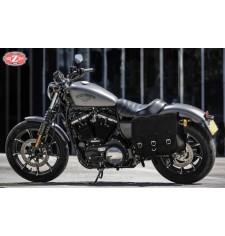 Alforja para Sportster 883/1200 Harley Davidson mod, TRAJANO Básica Específica - Hueco amortiguador - IZQUIERDA
