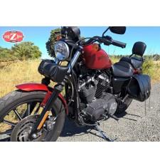Alforja para Sportsters Iron 883 Harley Davidson mod, BANDO Básica - Hueco amortiguador - IZQUIERDA