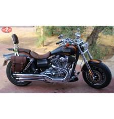 Alforja para Dyna Harley Davidson mod, CENTURION - Marrón - DERECHA