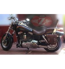 Alforja para Dyna Harley Davidson mod, CENTURION - Marrón - IZQUIERDA