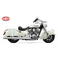 Sacoche latérale pour Indian® Cheif® Classic mod, BANDO Basique Spécifique - Blanc -