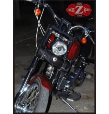 Tool bag Custom Basique Tressés 1 Concho pour Dynas - Harley Davidson -