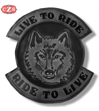 c73c1c12a2557 Patch Back - Vintage - Wolf - Live to Ride - Gray