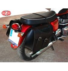 Sacoches pour Triumph Bonneville T100/120 mod, FARAON - Croco - Adaptable