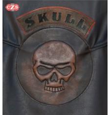 Patch Vintage personnalisé - SKULL - Brun -