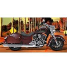 Sacoches Rigide pour Indian® Chief® Classic mod, NAPOLEON - Basique - Brun -