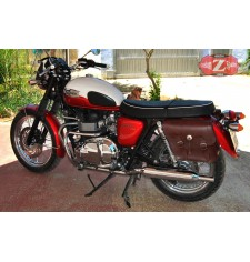 Alforjas para Triumph Bonneville T100/120 mod, APACHE Básicas Adaptables - Marrón -