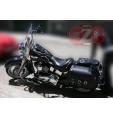 Sacoches Rigide pour Softail Deluxe Harley Davidson mod, CAMPEADOR Basique Celtic Adaptable