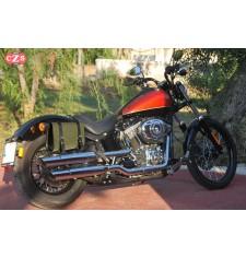 Alforja para Softail Blackline Harley Davidson mod, OLIMPO PLATOON Básica