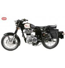 Alforja - Royal Enfield - Bullet Classic 350/500cc - mod, CENTURIÓN - Izquierda - Específica - Negro