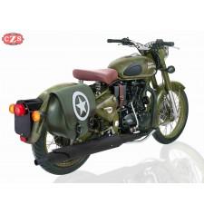 Sacoche pour Royal Enfield Battle Green mod, SPARTA - Armée Étoile - Vert Militaire - DROITE - Adaptable