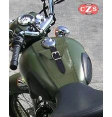 Panneau moto en cuir pour Royal Enfield Battle Green 350-500cc Basique PLATOON