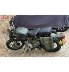 Sacoche pour Royal Enfield - Battle Green 350/500cc mod, CENTURION PLATOON - GAUCHE