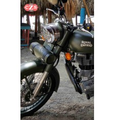 Rulo Custom Básico para Royal Enfield Battle Green - PLATOON - 29 cm x 11 Ø -