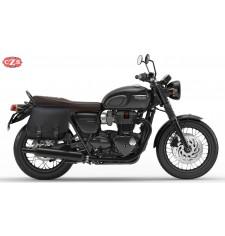 Sacoche pour Triumph Bonneville T100/T120 mod, SCIPION Basique Adaptable - DROITE
