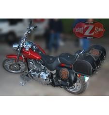 Alforjas para Softail FXSTC Harley Davidson mod, SPARTA - Skull CZ - Específica