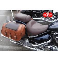 Saddlebags pour Suzuki Volusia mod, STAR Brown - Croco - Specific