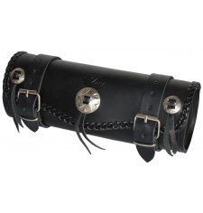 Tool bag Custom Basique Tressés 3 conchos -  29 cm x 11 Ø -