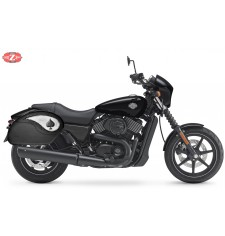 Alforjas Rígidas para Street XG750 Harley Davidson mod, VENDETTA - As de Picas - Específicas