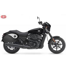 Sacoches Rigide pour Street XG750 Harley Davidson mod, VENDETTA - As de Pique -