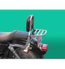 Dossier avec porte-bagages pour Harley Davidson Sportster XL/XLM/XLN (1994-2004)