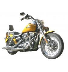 Dossier avec porte-bagages pour Harley Davidson Super Dyna Glide Custom (depuis 2006)