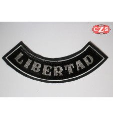 Embossed leather patch mod, LIBERTAD - Black -