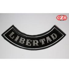 Patch en cuir gaufré mod, LIBERTAD - Noir -