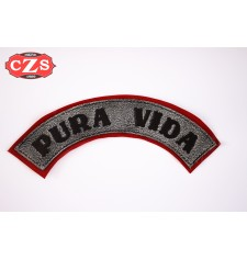 Embossed leather patch mod, PURA VIDA