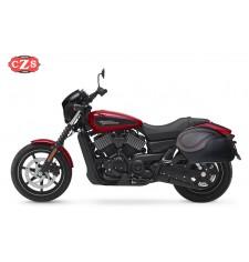 Alforjas Rígidas para Street 750 Harley Davidson mod, VENDETTA Específica - Perfil Rojo -