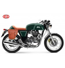 Saddlebag for Royal Enfield Continental GT 535 mod, CENTURION - Light Brown - Adaptable - RIGHT