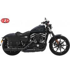 Alforja para Sportster Iron 883 Harley Davidson mod, BANDO Básica - Específica - Hueco amortiguador - DERECHA
