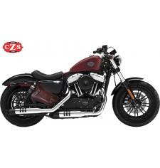 Alforja para basculante para Sportster Harley Davidson - 2018 - mod, LIVE to RIDE Específica - Marrón -